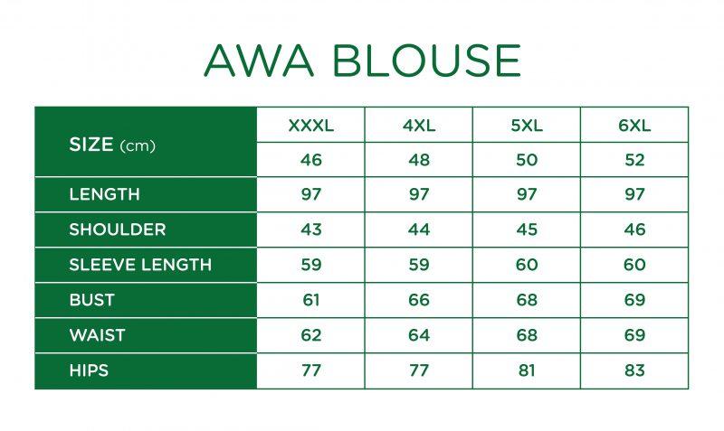 Rs Awa Blouse Size Chart