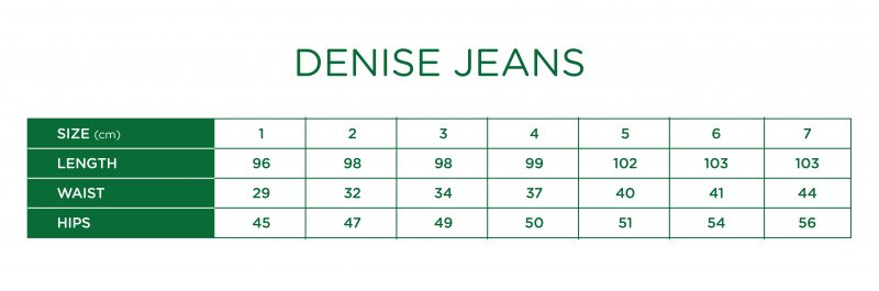 Rs Denise Jeans Size Chart