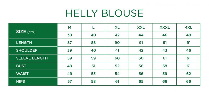 Rs Helly Blouse Size Chart