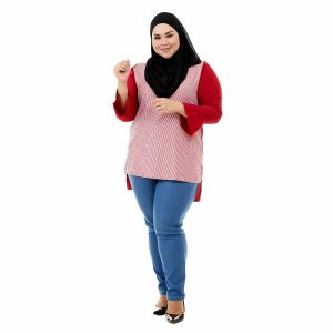 Riana Blouse Cherry Red Color Front