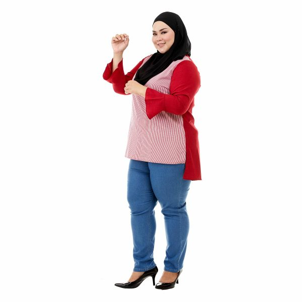 Riana Blouse Cherry Red Color Side
