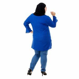 Riana Blouse Royal Blue Color Back