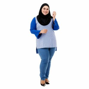 Riana Blouse Royal Blue Color Front