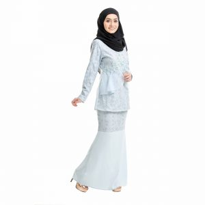 Salina Kurung Baby Blue Right Side