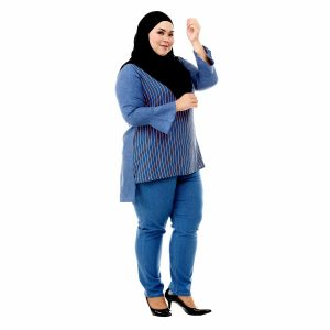 Sinar Blouse Denim Blue Color Side