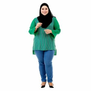 Sinar Blouse Lime Green Color Front