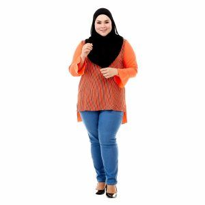 Sinar Blouse Orange Color Front