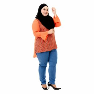 Sinar Blouse Orange Color Side