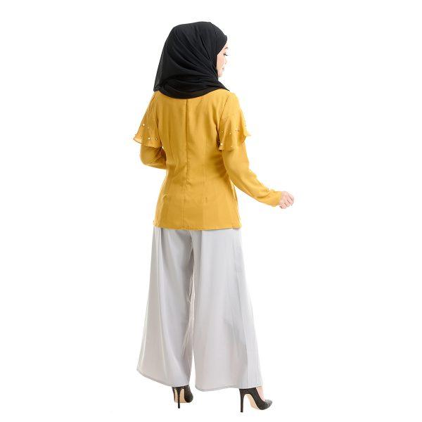 Delisha Blouse Honey Yellow Back