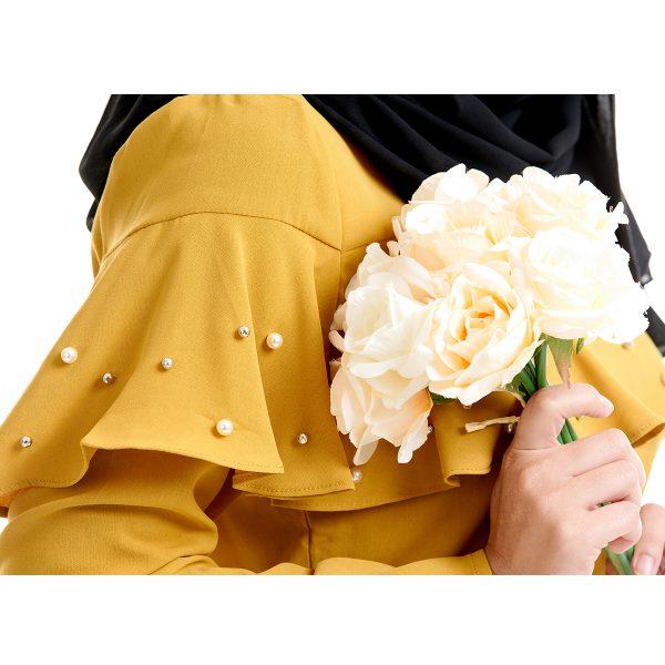 Delisha Blouse Honey Yellow With Flower