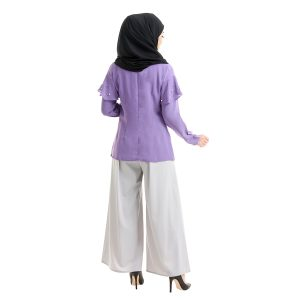 Delisha Blouse Purple Back