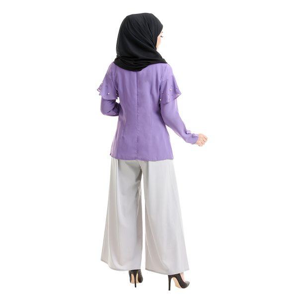 Delisha Blouse Purple Back