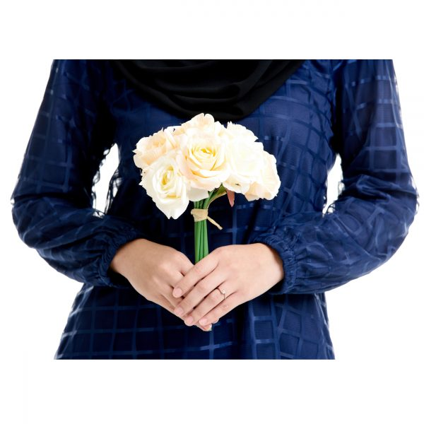 Helena Blouse Dark Blue With Flower