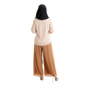 Helena Blouse Light Brown Back
