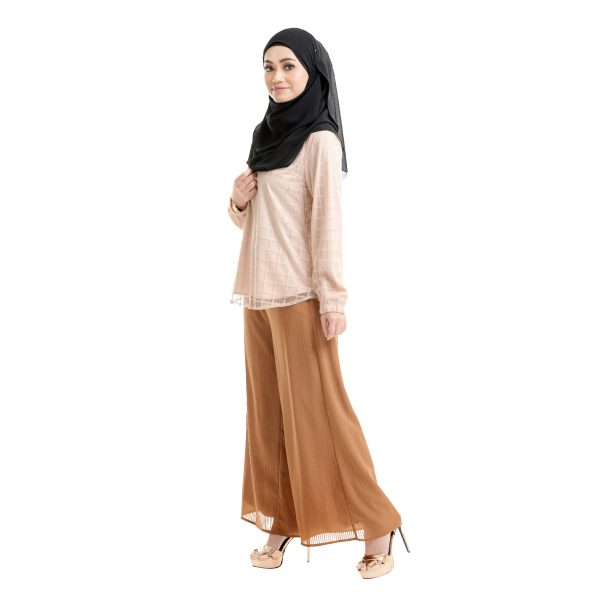 Helena Blouse Light Brown Side