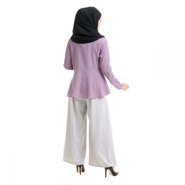 Laila Blouse Mauve Purple Back