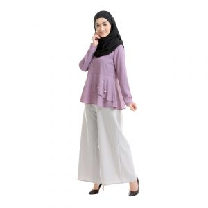Laila Blouse Mauve Purple Side View