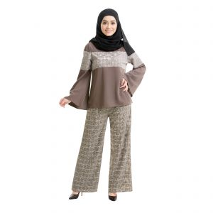 Maryam Check Blouse Dark Brown