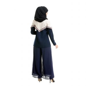 Mila Blouse Dark Blue Back