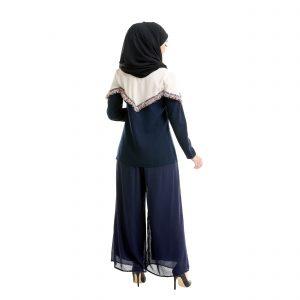 Mila Blouse Dark Blue Back