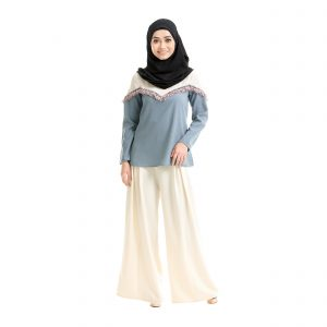 Mila Blouse Stone Blue