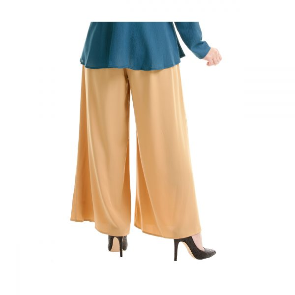 Sara Palazzo Pants Light Brown Back