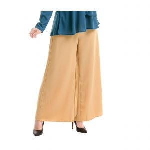 Sara Palazzo Pants Light Brown Side