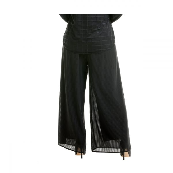 Suria Palazzo Pants Black Back View