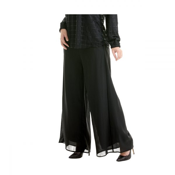 Suria Palazzo Pants Black Side View