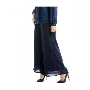 Suria Palazzo Pants Dark Blue Side