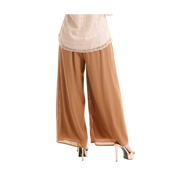 Suria Palazzo Pants Peanut Brown Back