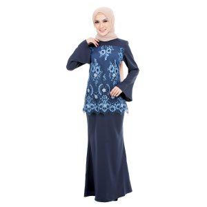 Irdina Kurung Blue Blush (2)