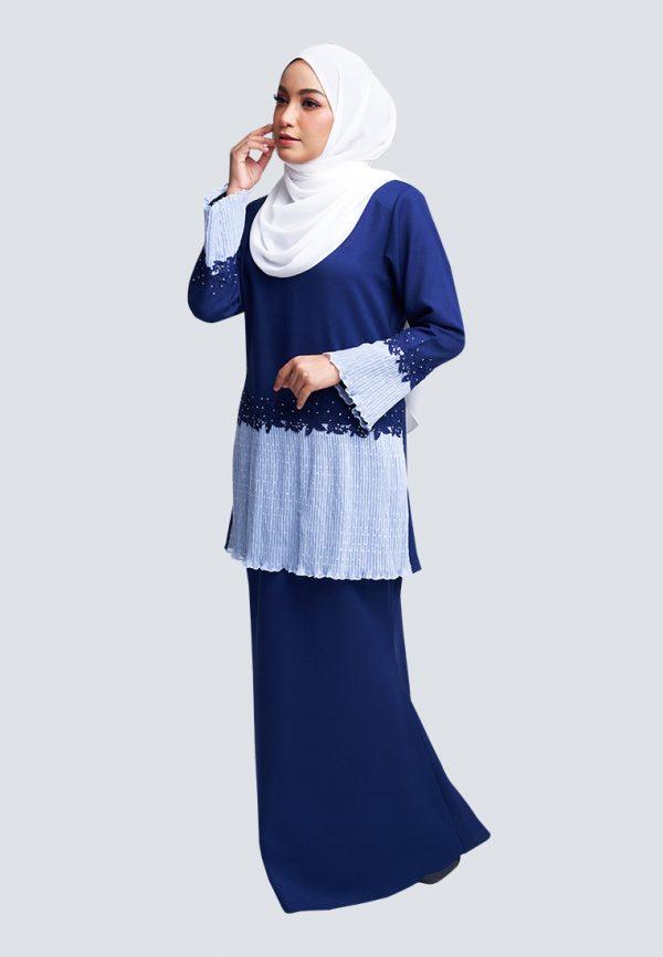 Aaina Kurung Blue 2
