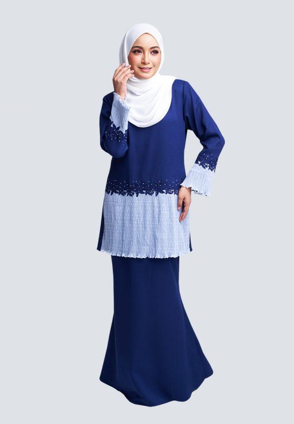 Aaina Kurung Blue 3