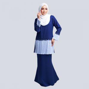 Aaina Kurung Blue W