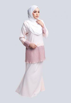 Aaina Kurung Pink 1