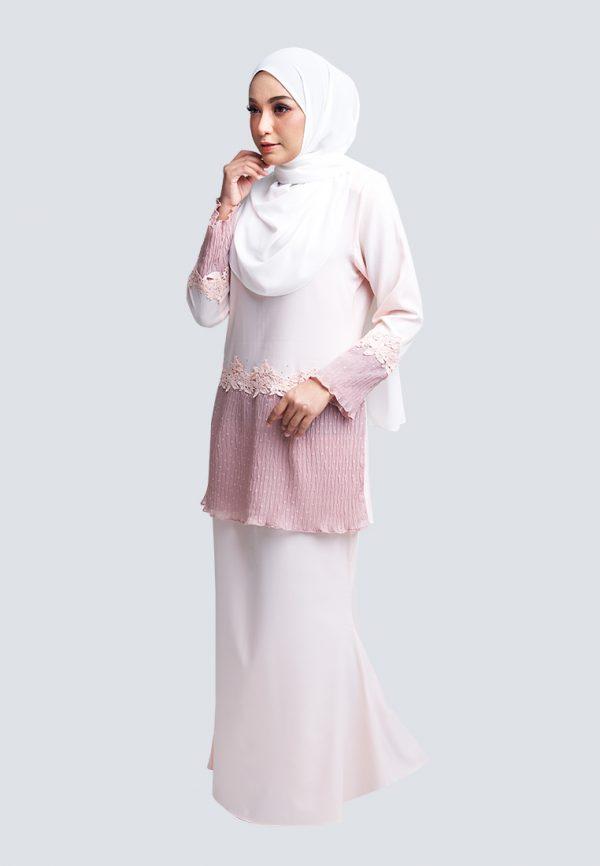 Aaina Kurung Pink 2