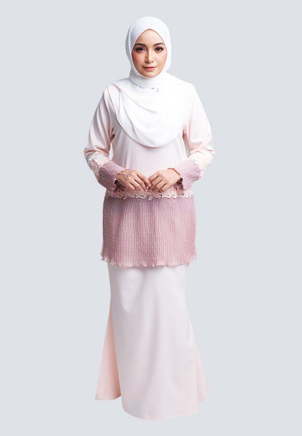 Aaina Kurung Pink 3