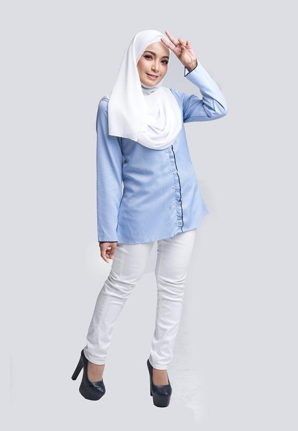 Aara Blouse Blue 1 Copy
