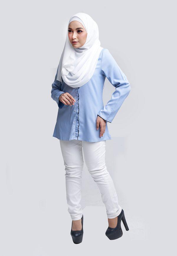Aara Blouse Blue 2 Copy
