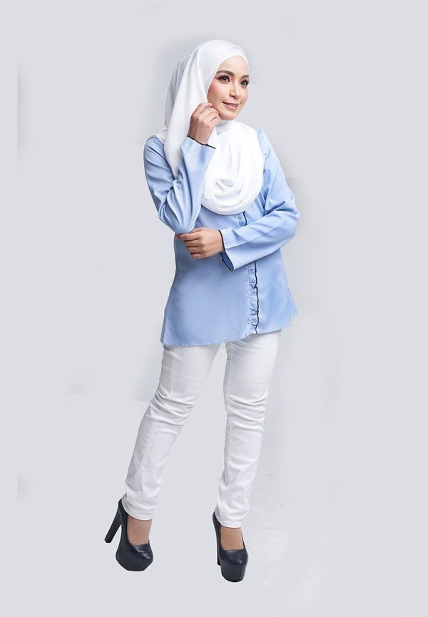 Aara Blouse Blue 3 Copy
