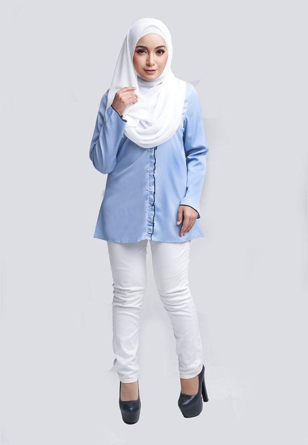Aara Blouse Blue 4 Copy