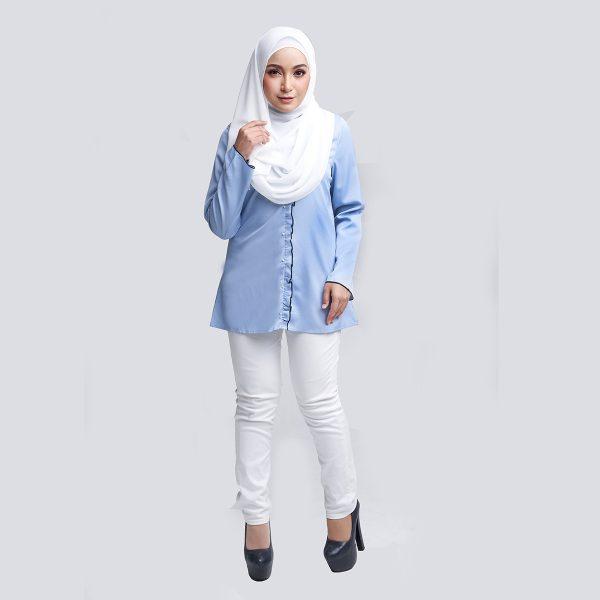 Aara Blouse Blue W Copy