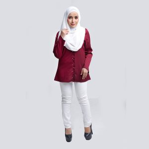 Aara Blouse Red W Copy