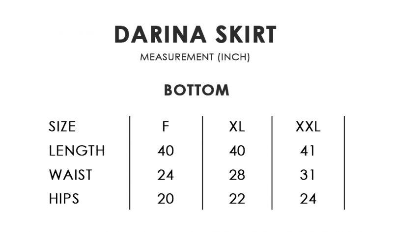 Darina Size Chart