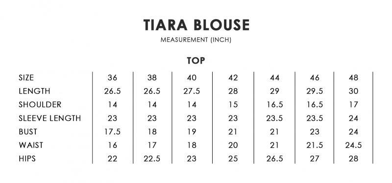 Tiara Size Chart