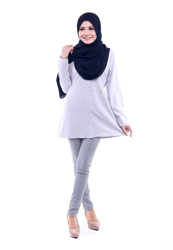 Peris Blouse Grey 3