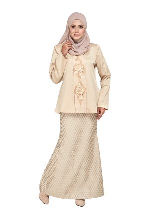 Zara Kurung Cream (1)