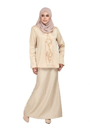 Zara Kurung Cream (4)