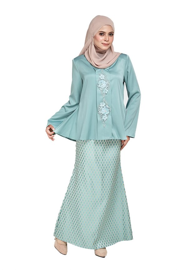 Zara Kurung Green (1)